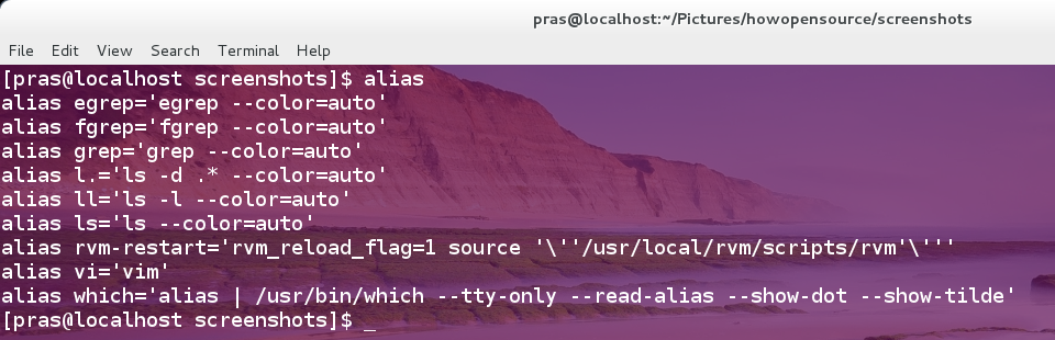 alias command