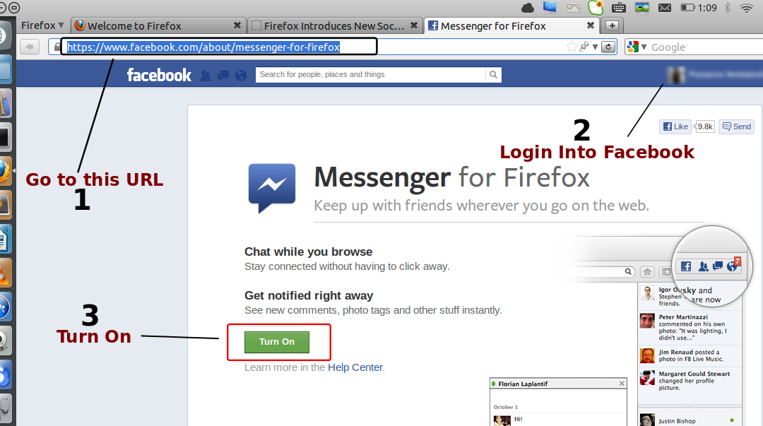 [How To] Enable Facebook Integration with Firefox 17