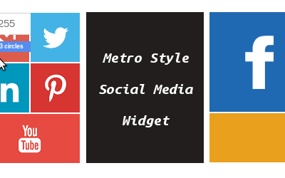 Metro Style Social Media Widget for WordPress