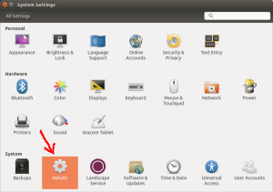 Ubuntu Version System Settings Dialog