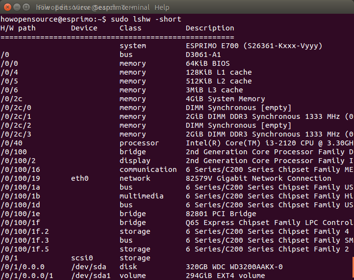 How To Show Hardware Info on Linux and Ubuntu