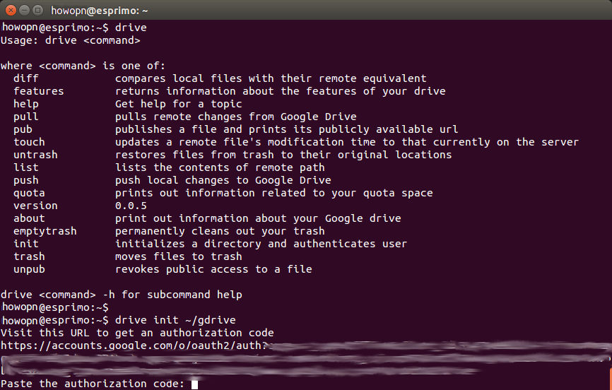 How to Use Google Drive on Ubuntu Linux via Command Line