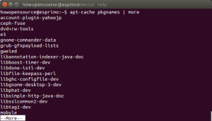 list all available packages with apt-cache