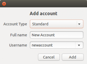 Ubuntu Add New User Account