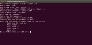 Adduser Linux terminal command
