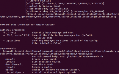 How to Install and Use Amazon Glacier on Linux