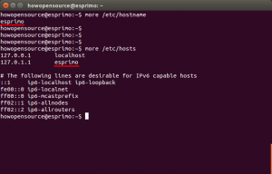 Ubuntu Print and Change Hostname