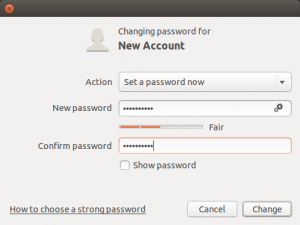 User Account Set Password Ubuntu