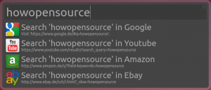 Launcher Search Web for HowOpenSource