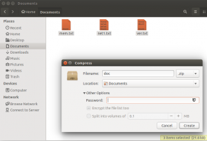 Ubuntu Nautilus File Manager Password Protect File