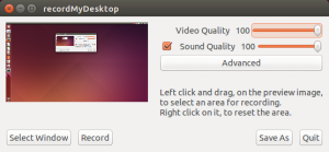 Record Desktop Video Linux