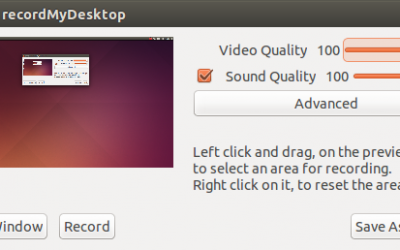 How to record screen activity on Ubuntu with RecordMyDesktop