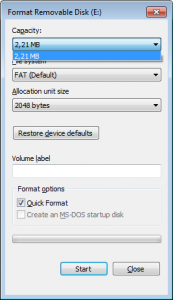 Format USB Drive No Free Space