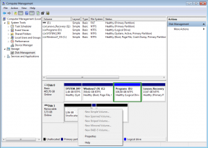 USB Flash Disk Management Utility Available Options