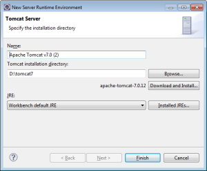 Eclipse Tomcat Specify Path to It