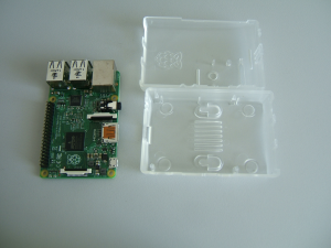 Raspberry PI With Official Plastic Case